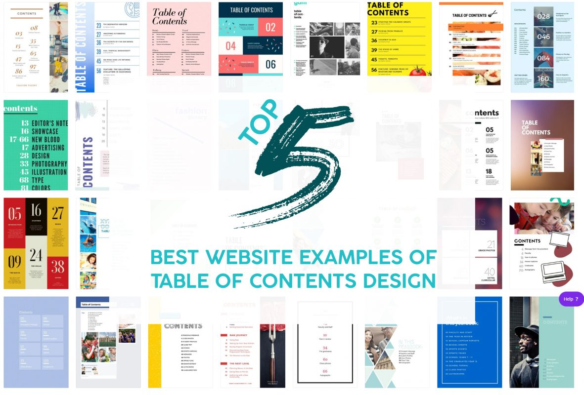 Top 5 Best Website Examples Of Table Of Contents Design