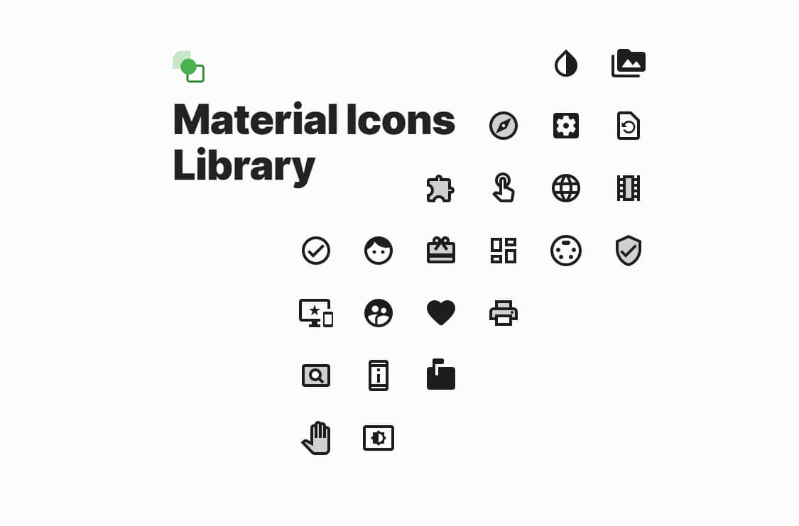 Material Icons Library: more then 1000 free vector icons