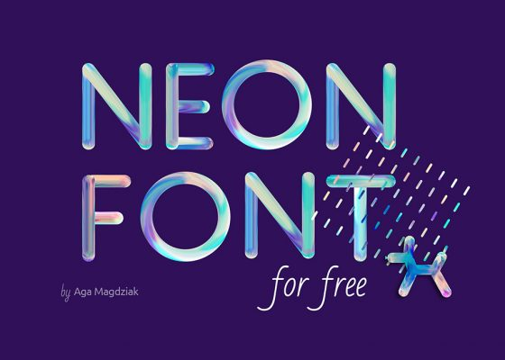 Neon free font for commercial use PSD