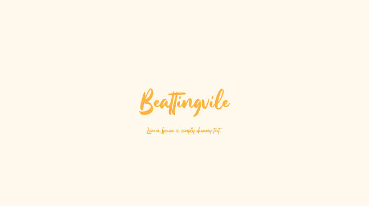 Beattingvile free font for personal and commercial use g