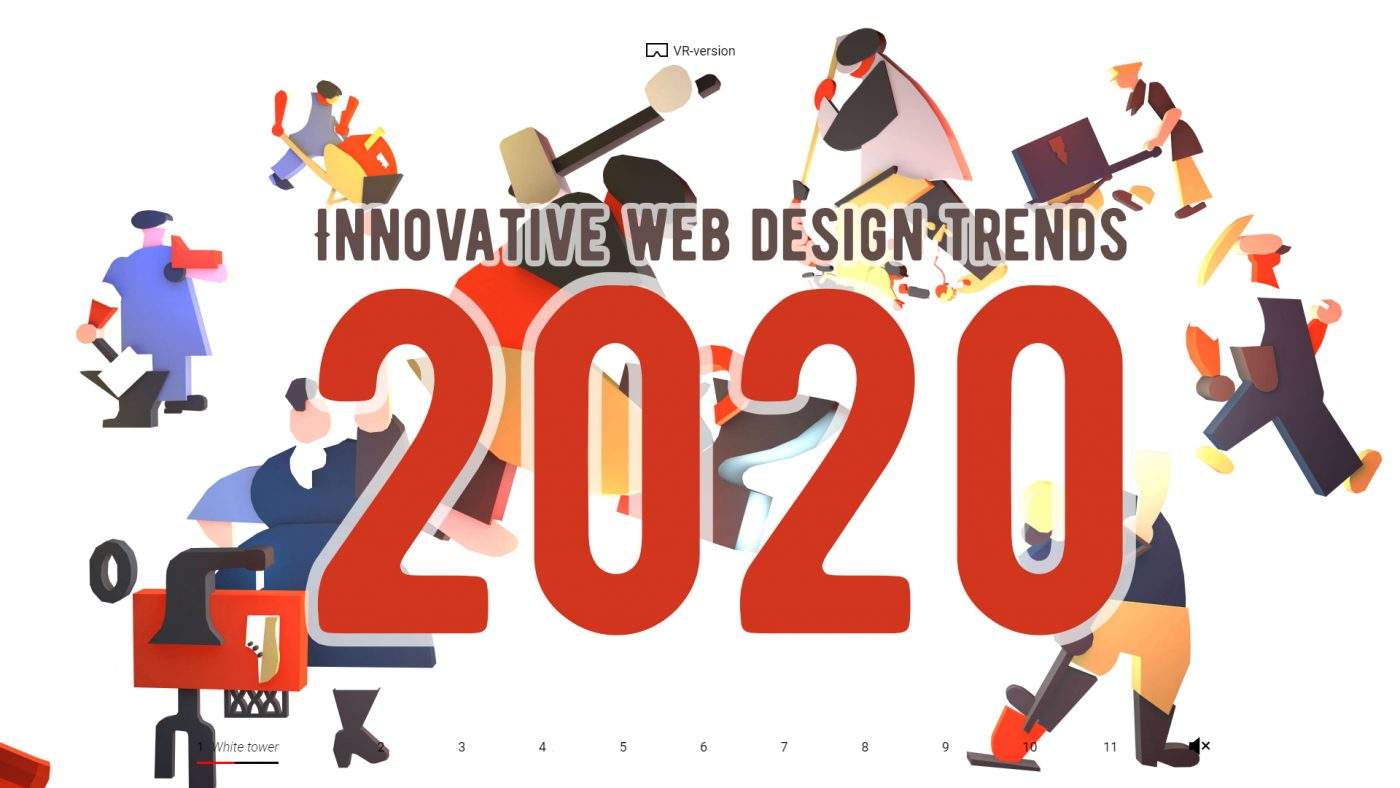 Innovative web design trends for 2020