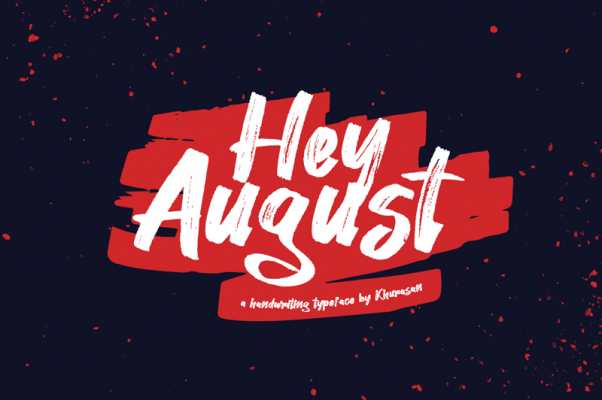 Hey august free font