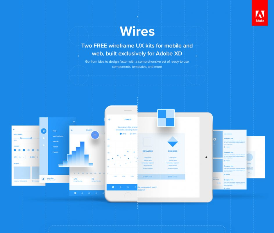 Free Wireframe kits for XD