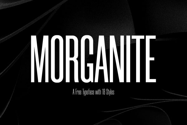 Morganite free font for commercial use