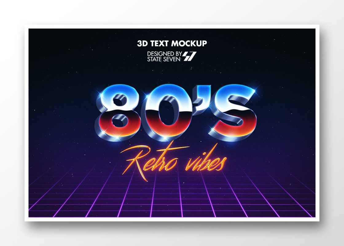 Free 1980's style text effect