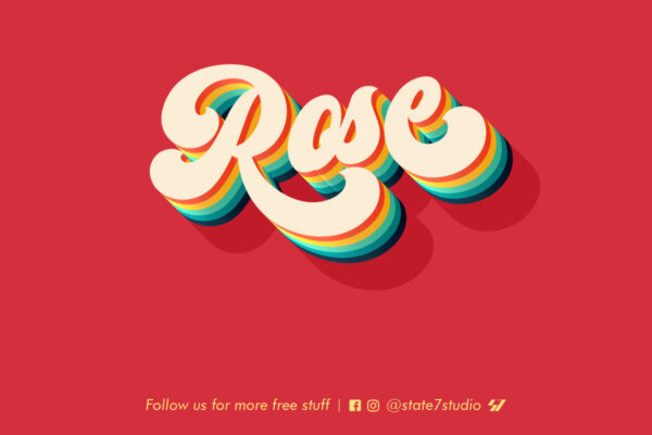 Free rose text effect