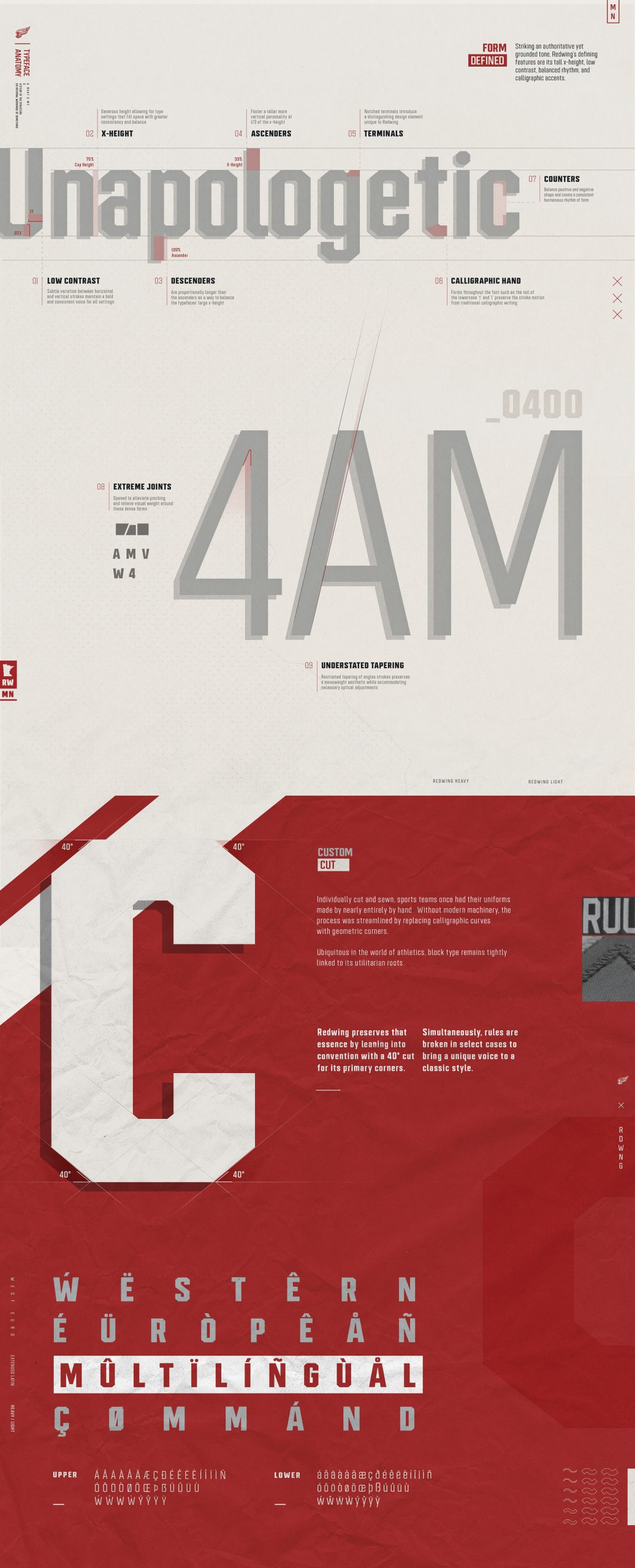 REDWING Athletic Block Typeface