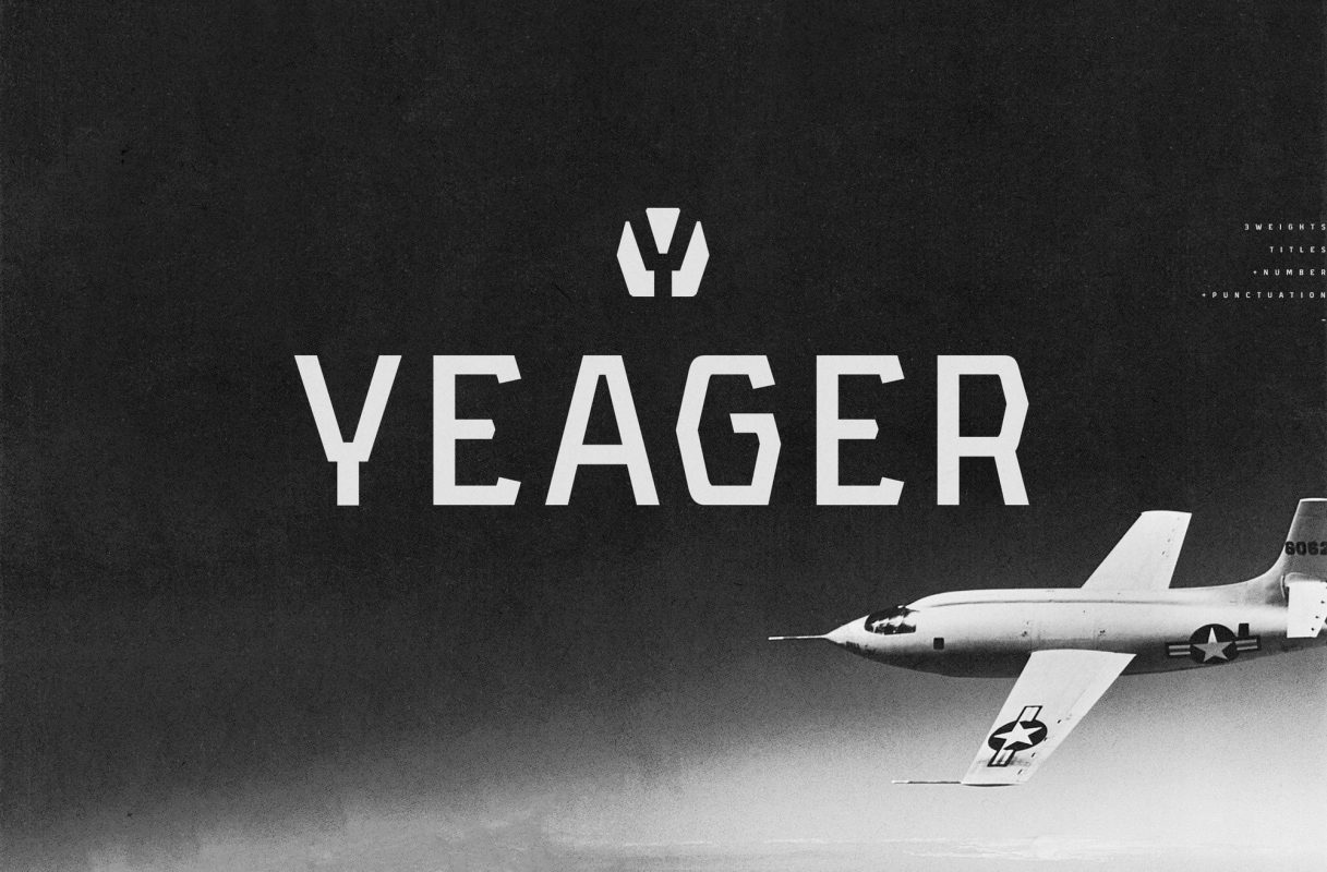 YEAGER free font