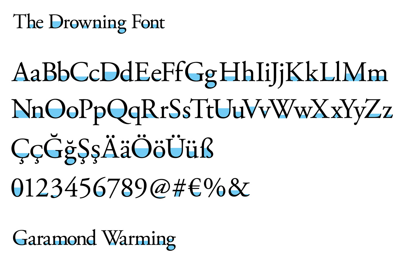 The Drowning Font