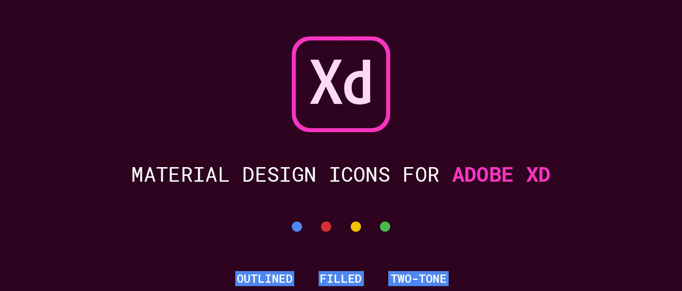 Google Material Icons for Adobe XD