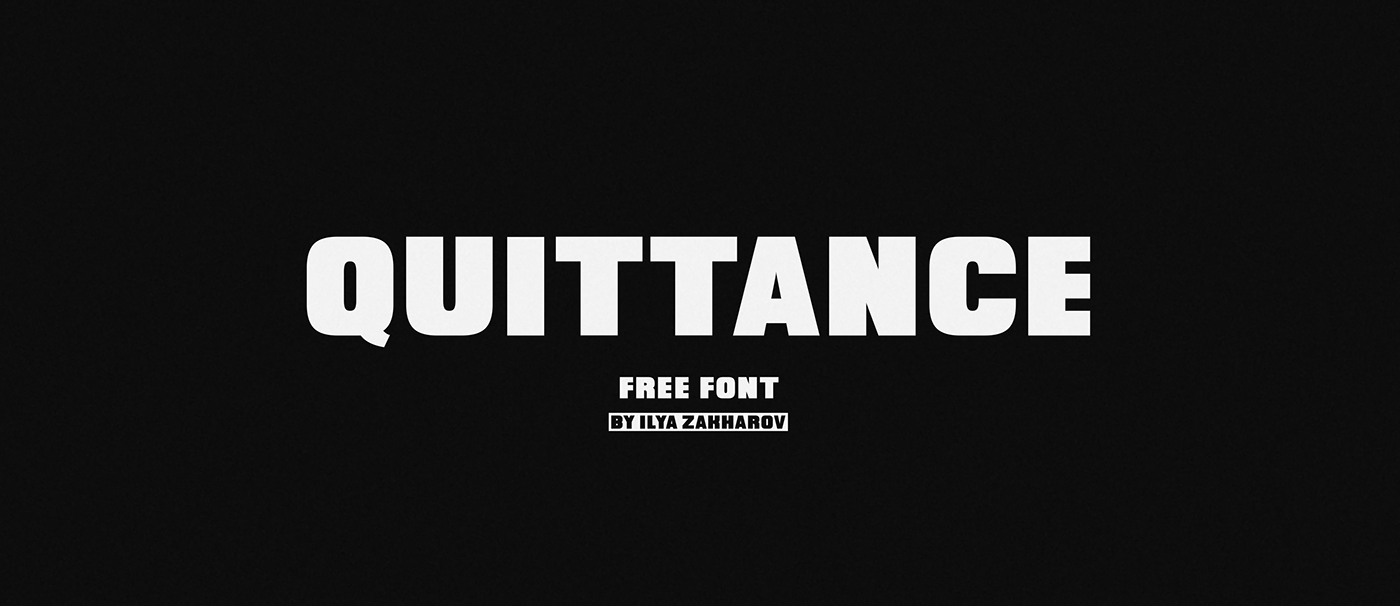 Quittance free font