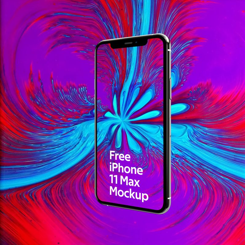 iPhone 11 MAX Free Mockup PSD