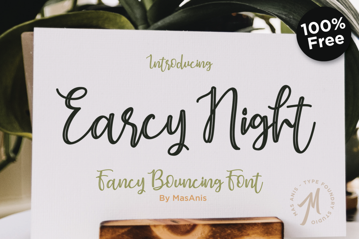 Earcy night font