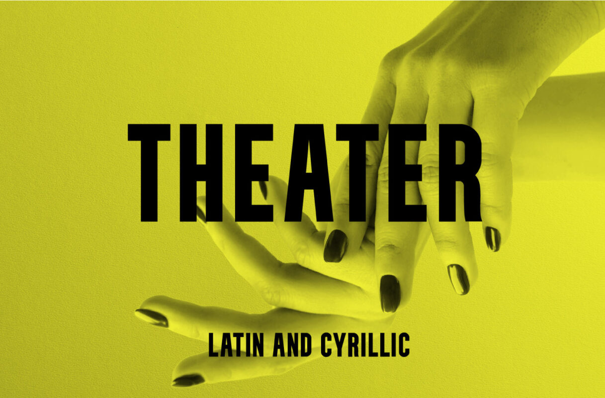 Theater font