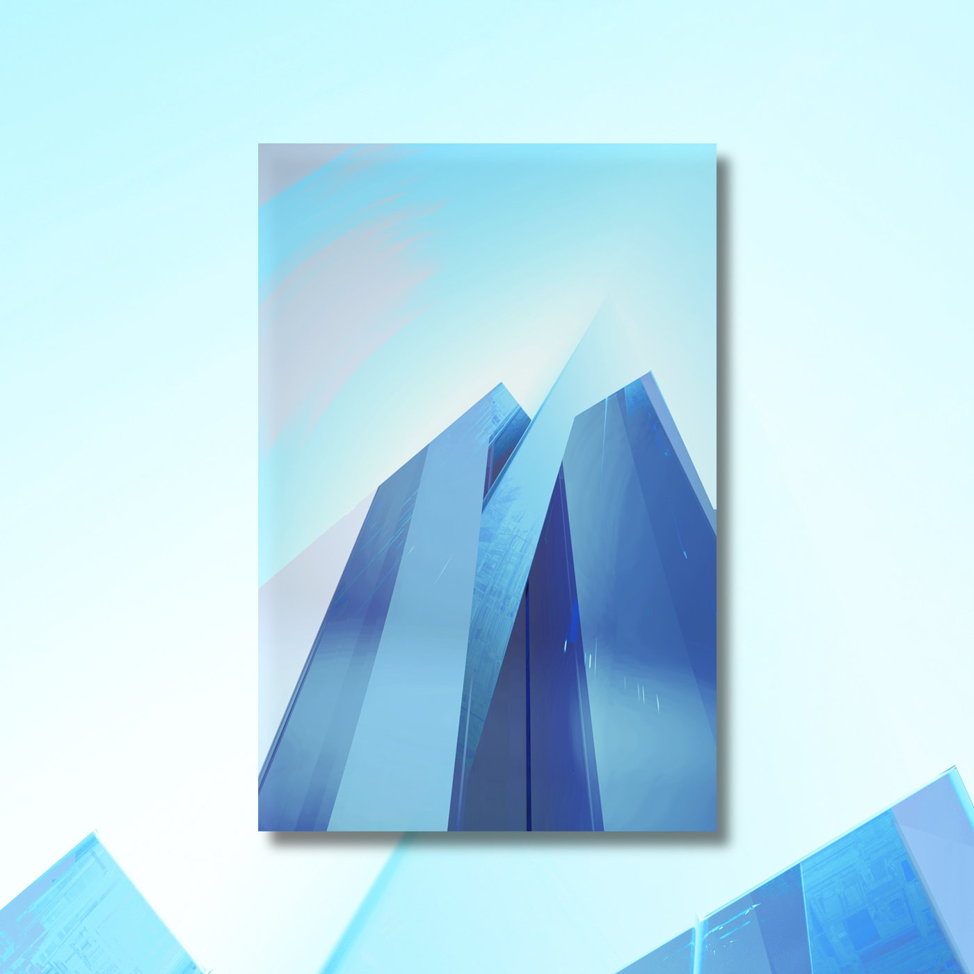 Abstract graphic layers for design projects