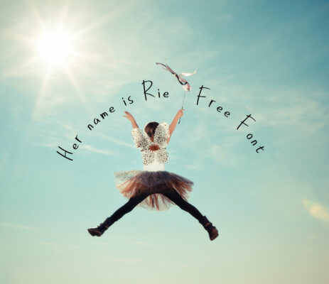 Her name is Rie free font