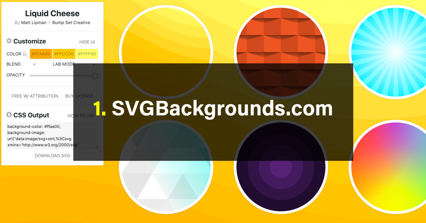 Free SVG Pattern Generators
