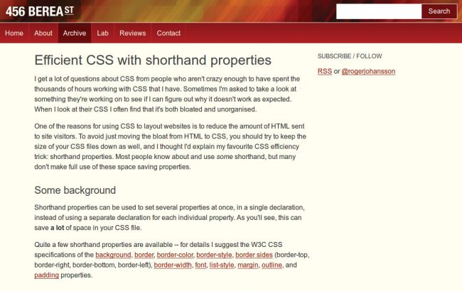 optimise your CSS