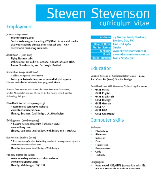 Create a Grid Based Resume/CV Layout in InDesign