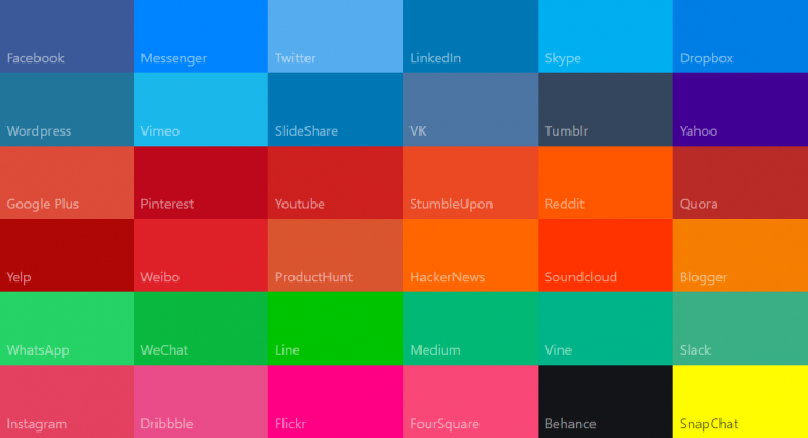 website color palettes
