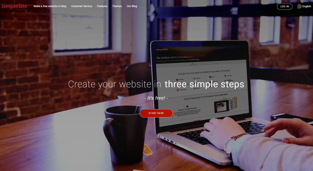 simplesite Best Free Website Builder for mobile editing