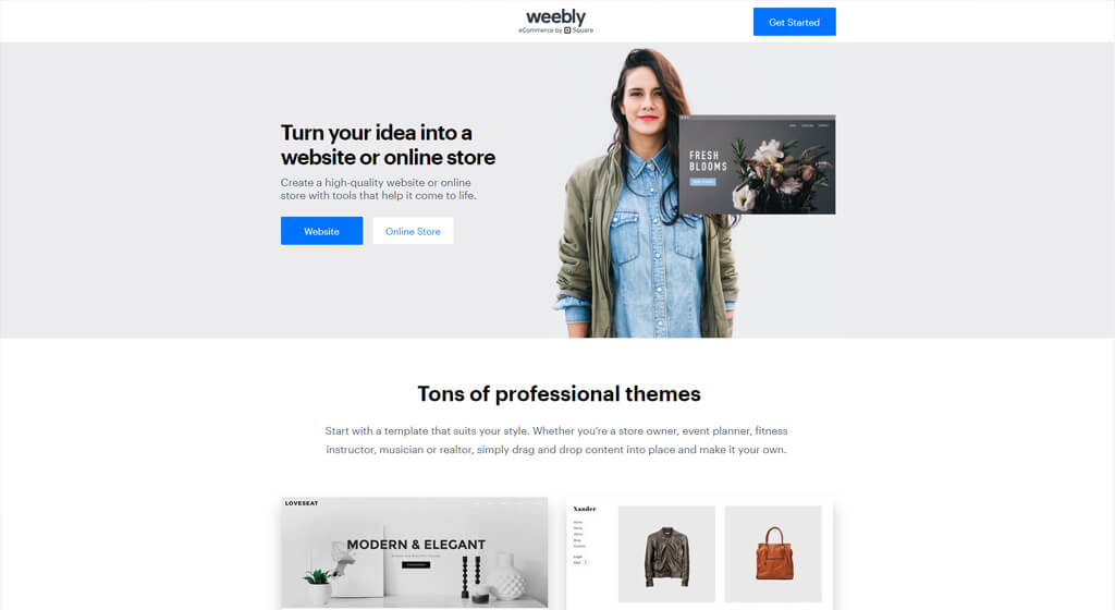 weebly Best Free Website Builder for small businesses and portfolios