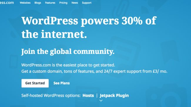 WordPress is the most popular free blogging platform