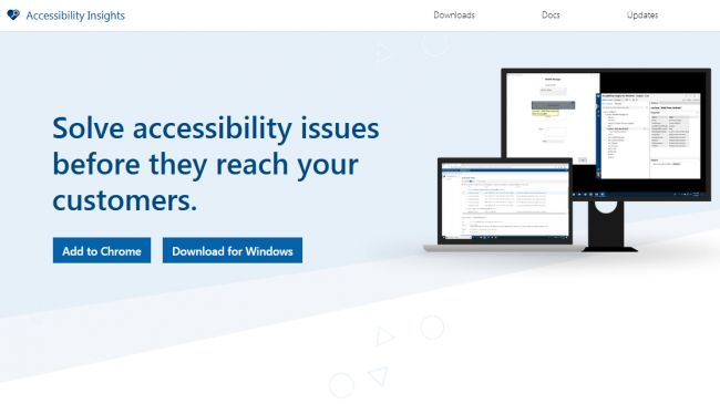 Use the Chrome extension to check your site's accessibility performance