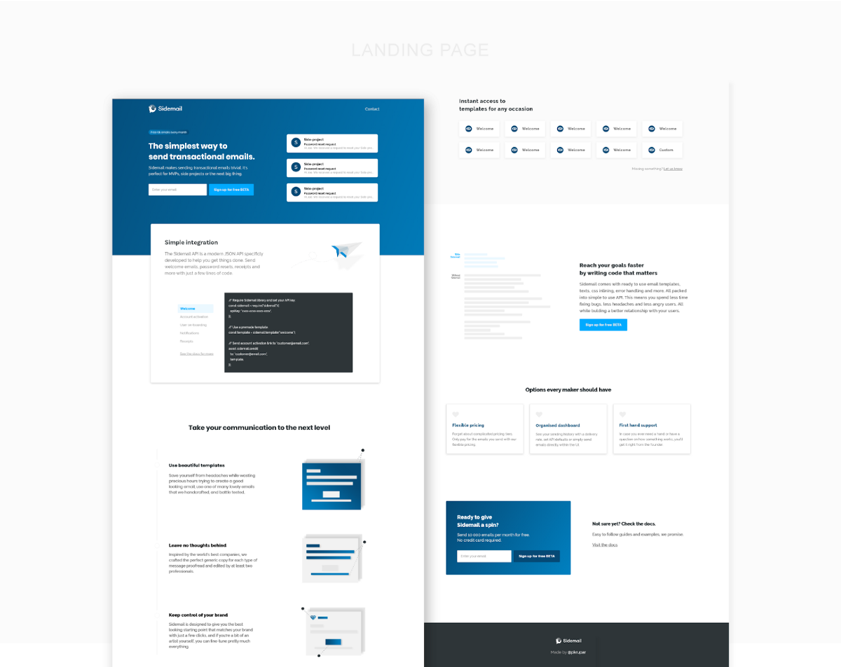 Designing a homepage (or a landing page)