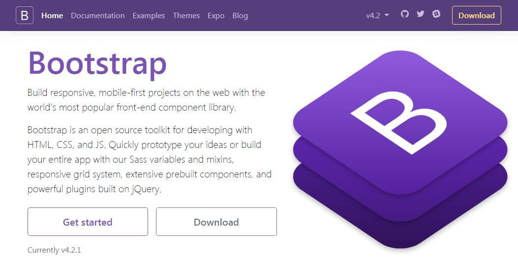 Bootstrap home page