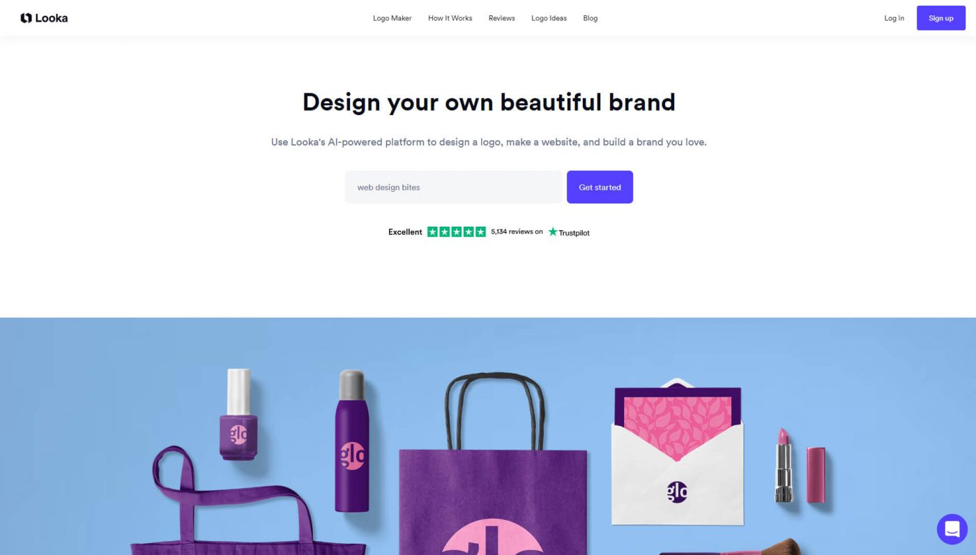 Looka  Logo Makers with  Creative Layouts and Fonts