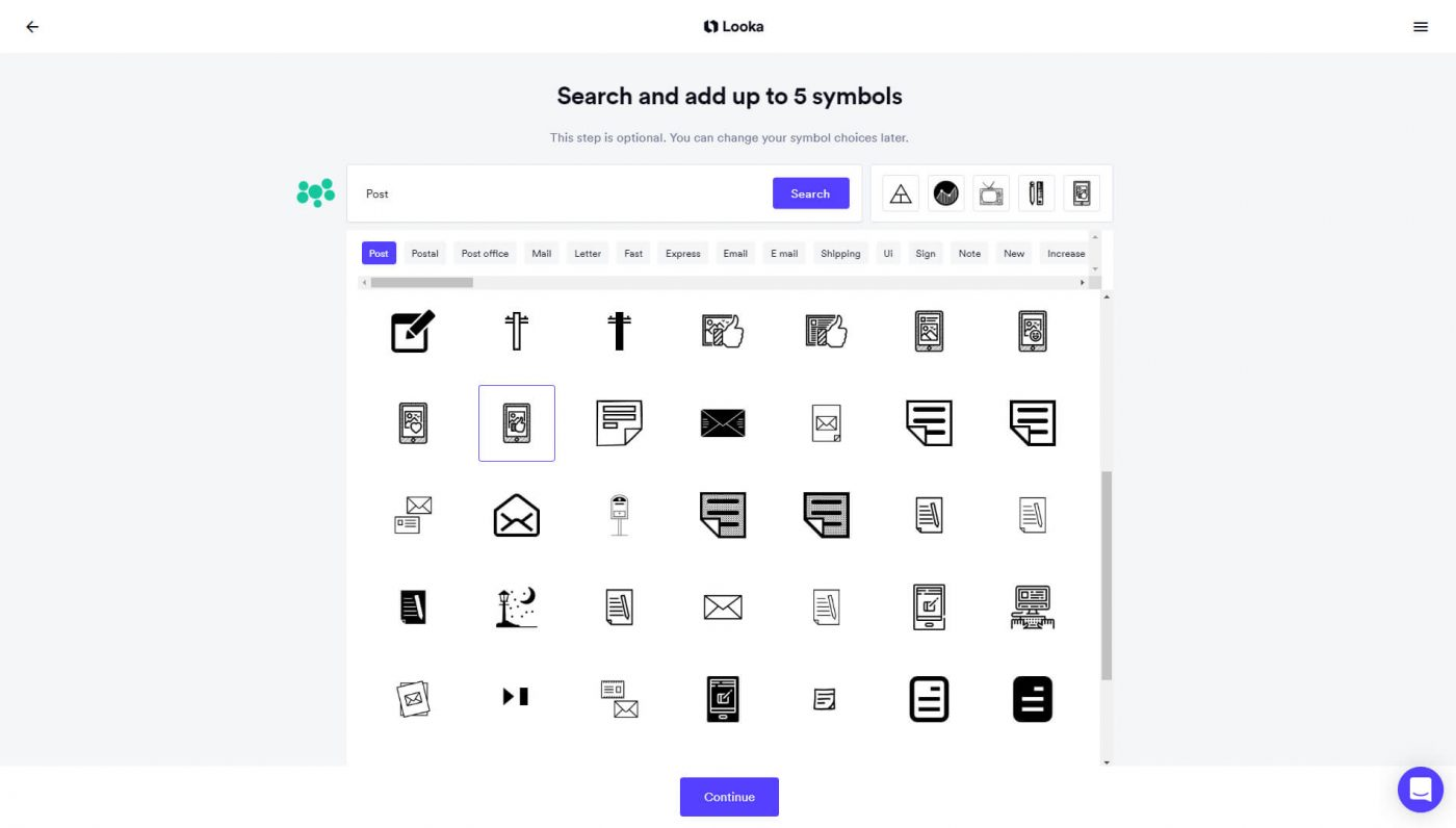 Search and add up to 5 symbols