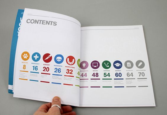 Table of contents with icons
