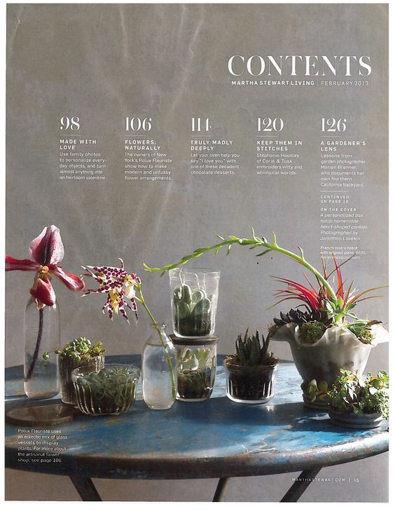 Use photos for table of content