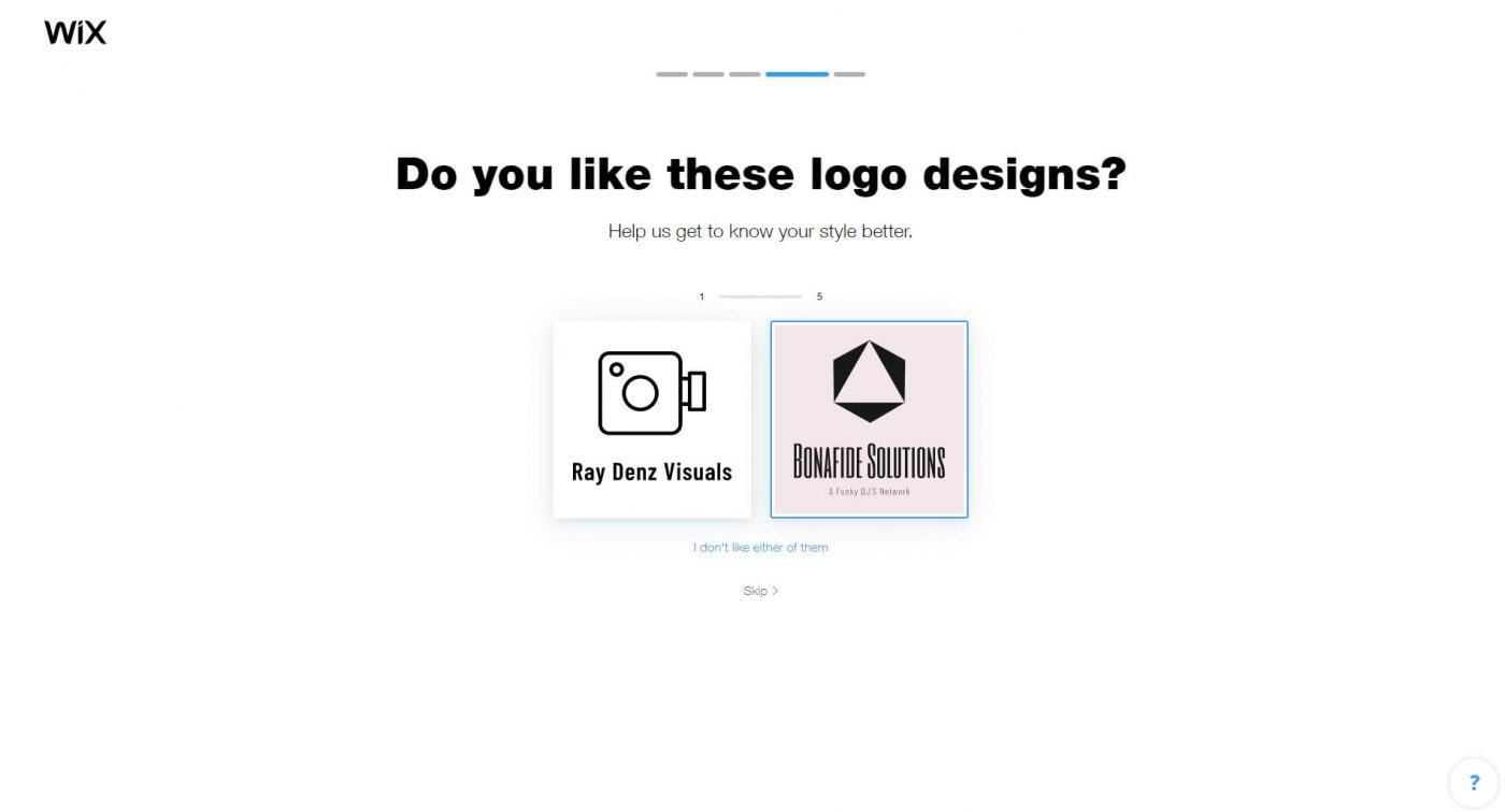 wix Do you like these logo designs