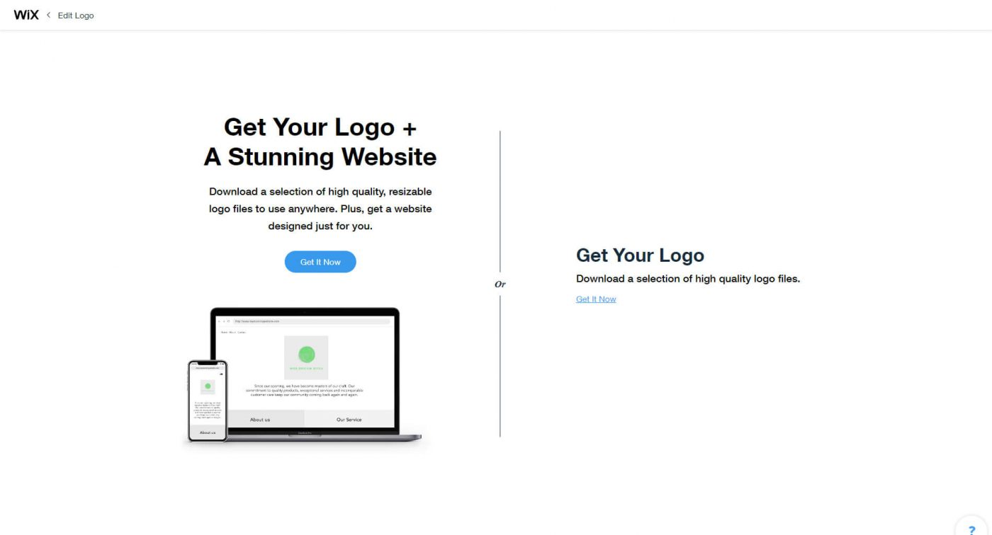 wix Get Your Logo