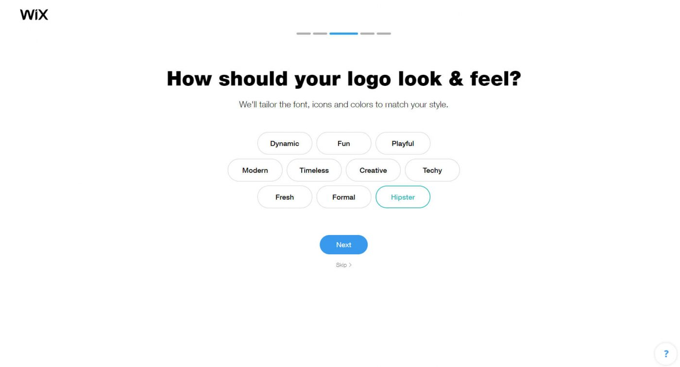 wix How should your logo look feel
