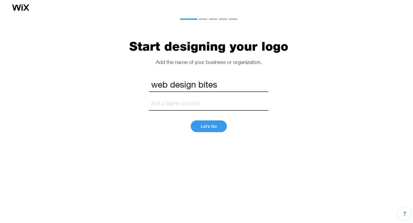 wix Start designing your logo