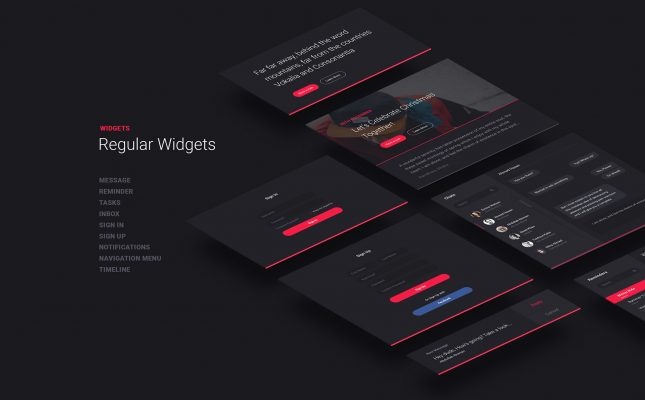 Dashboard UI Kit - Web Page Photoshop Freebie