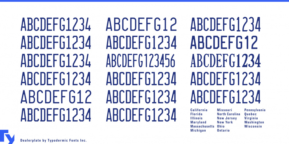 Dealerplate Font free font for commercial use