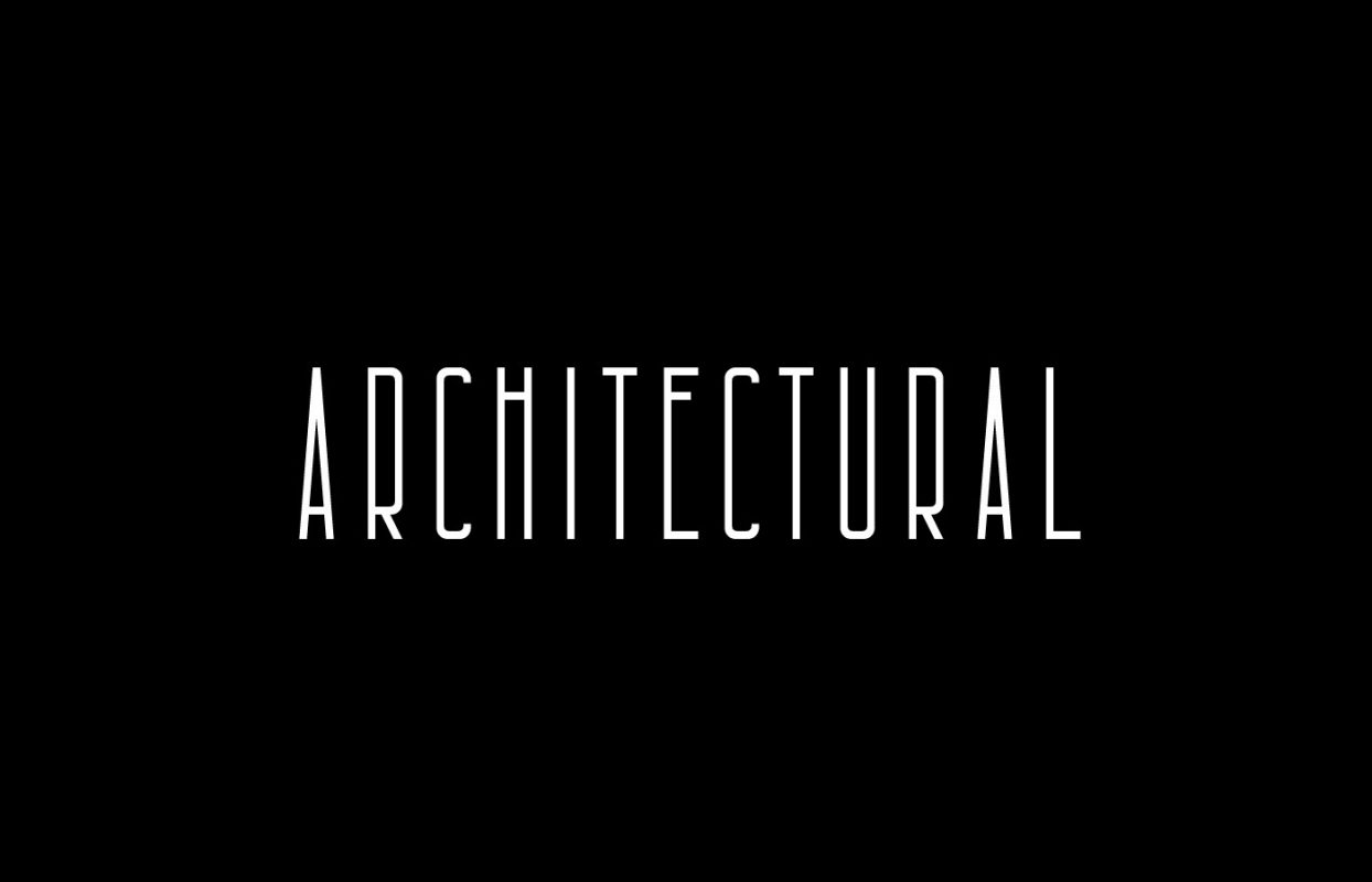 Architectural condensed font free for commercial use