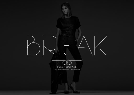 Break free font for commercial use