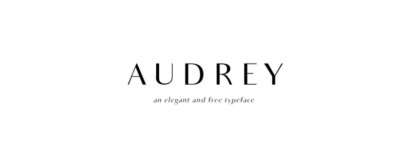 Audrey free font family