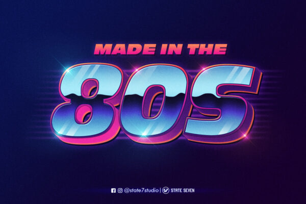 Free 80's style text eeffect