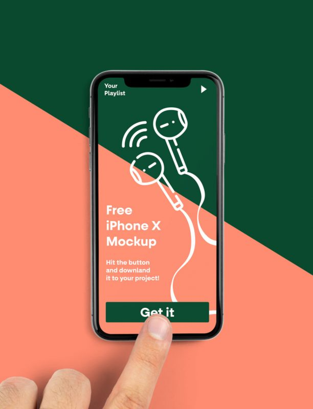 iPhone X Free PSD Mockup
