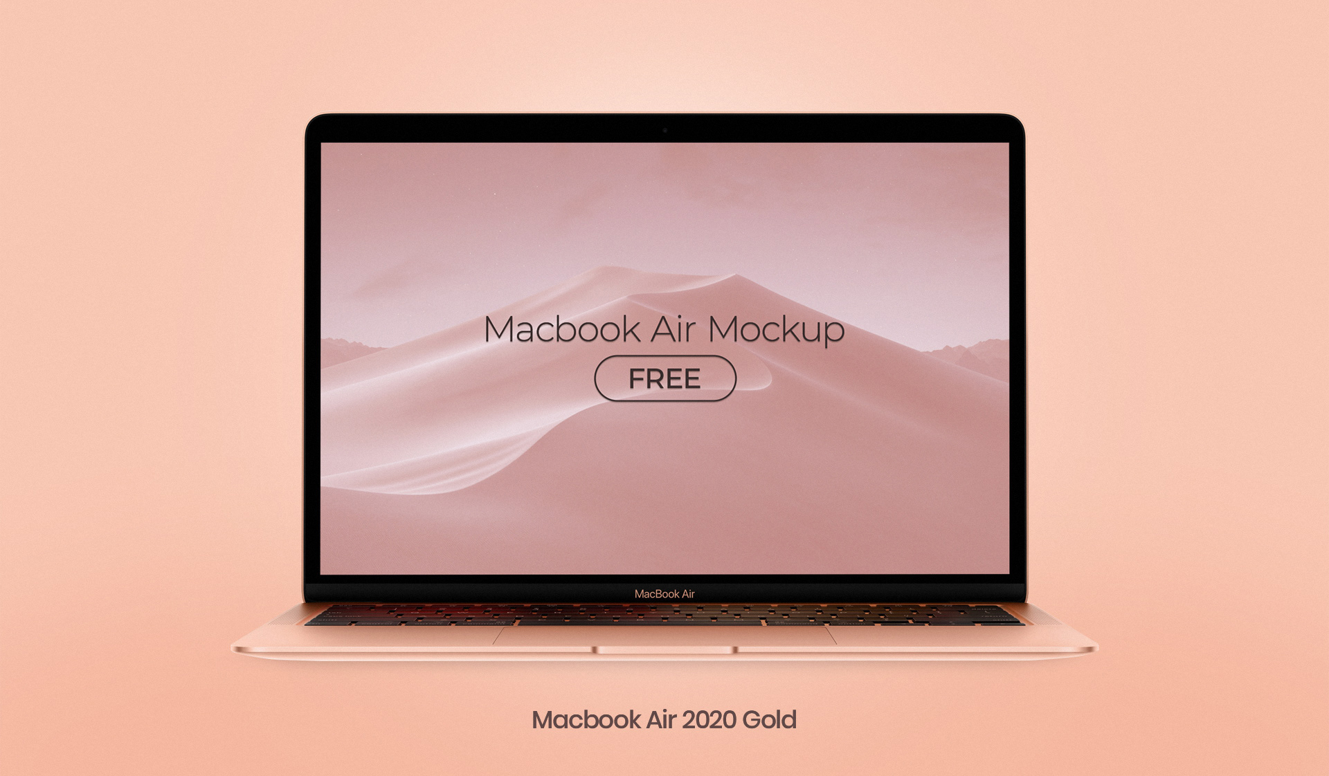 Free MacBook Air 2020 Mockup PSD