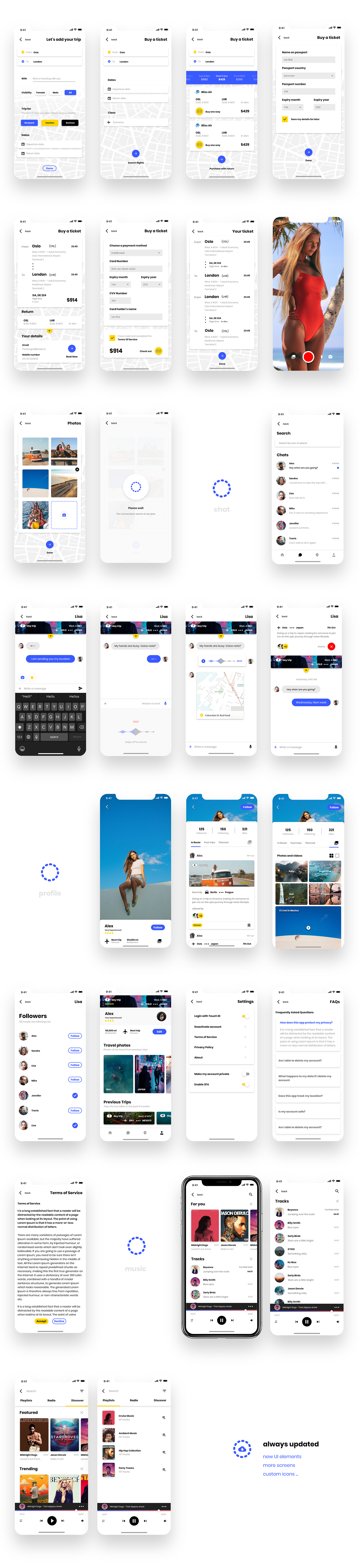 UI Kit Free for Adobe XD