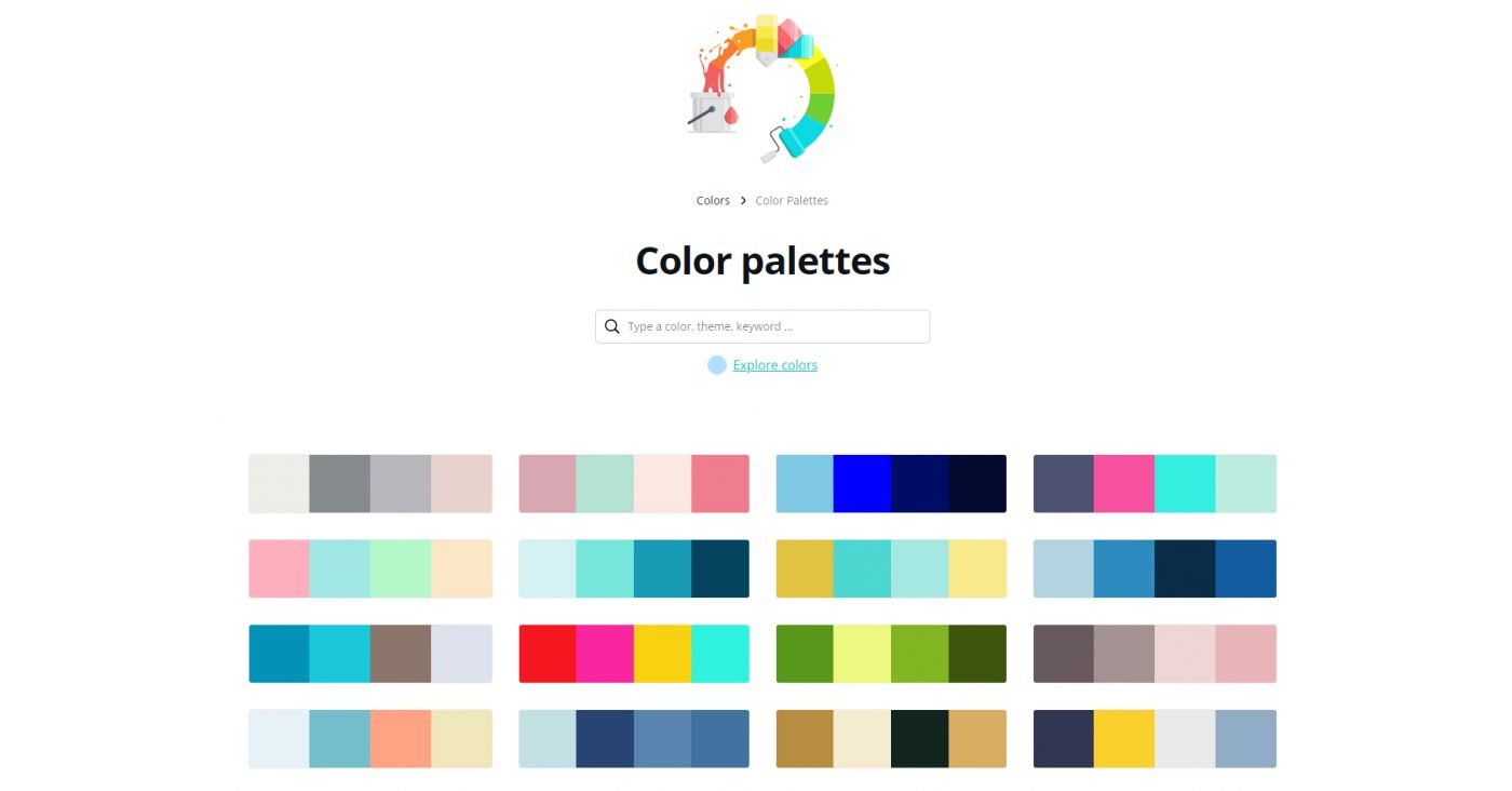 Canva color combinations tool