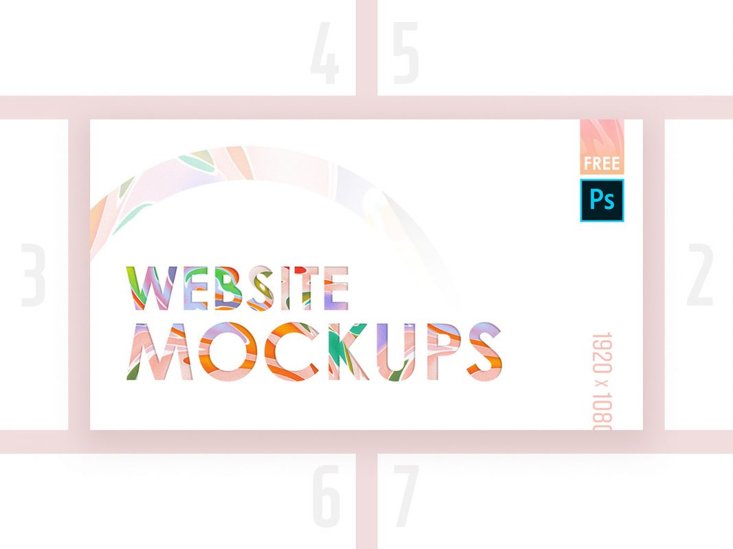 High Quality website Mockup FREE Pack