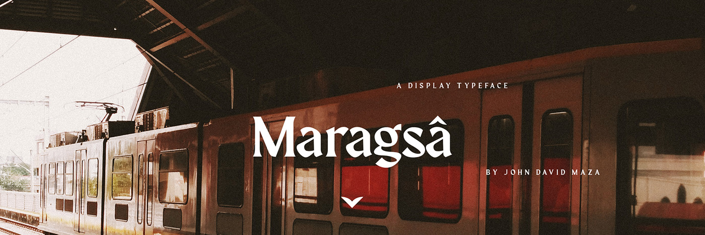 Maragsa free display font